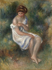 The Bather By Pierre Auguste Renoir