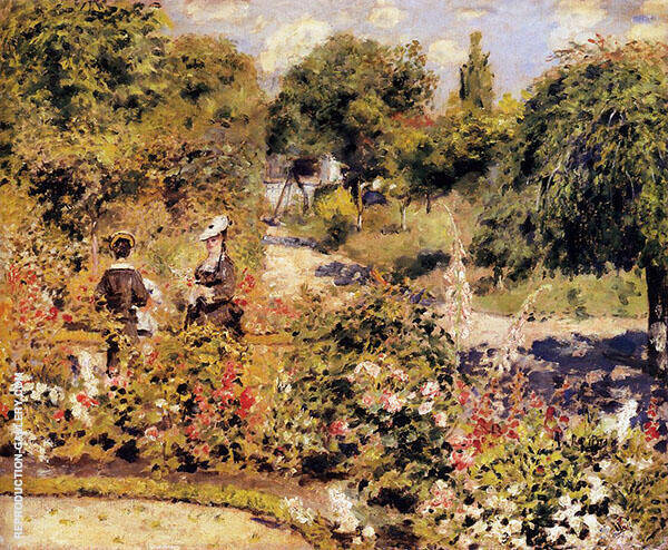 The Garden at Fontenay 1874 By Pierre Auguste Renoir