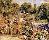 The Garden at Fontenay 1874 By Pierre Auguste Renoir