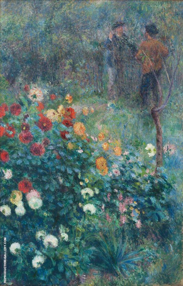 The Garden in The Rue Cortot at Montmartre 1876 By Pierre Auguste Renoir