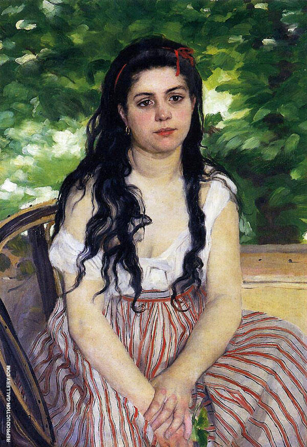 The Gypsy Girl Aka Summer 1868 By Pierre Auguste Renoir