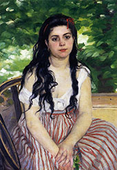 The Gypsy Girl Aka Summer 1868 By Pierre Auguste Renoir