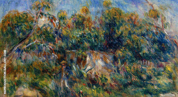 The Painter Taking a Stroll at Cagnes By Pierre Auguste Renoir