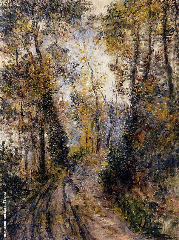 The Path Through The Forest 1871 Painting By Pierre Auguste Renoir
