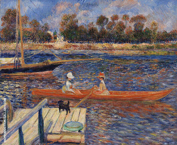 The Seine at Argenteuil By Pierre Auguste Renoir