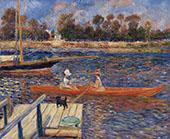 The Seine at Argenteuil By Pierre Auguste Renoir