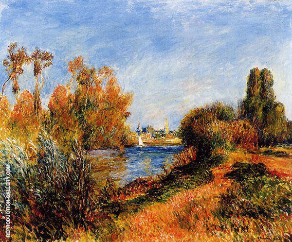 The Seine at Argenteuil 1888 Painting By Pierre Auguste Renoir