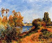 The Seine at Argenteuil 1888 By Pierre Auguste Renoir