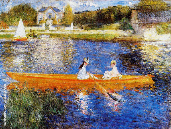 The Seine at Asnieres aka The Skiff 1879 Painting By Pierre Auguste Renoir