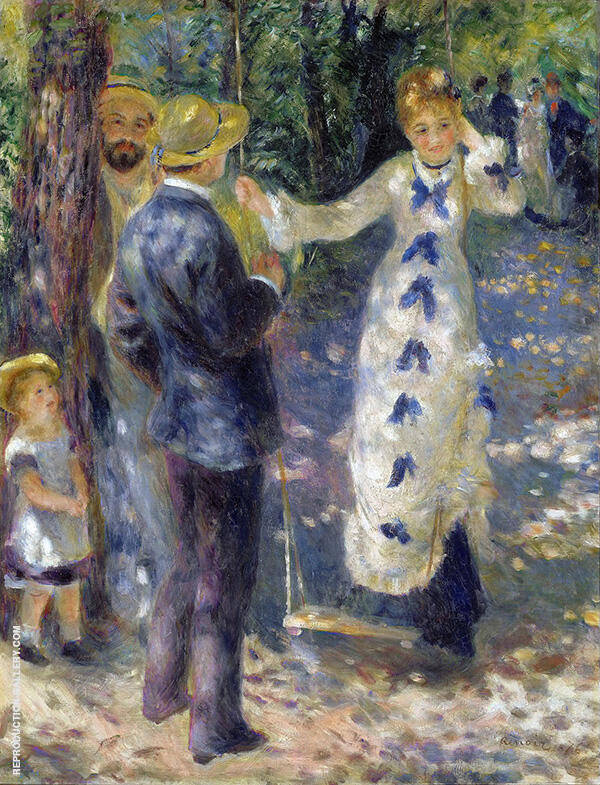 The Swing 1876 by Pierre Auguste Renoir | Oil Painting Reproduction Replica On Canvas - Reproduction Gallery