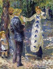 The Swing 1876 By Pierre Auguste Renoir
