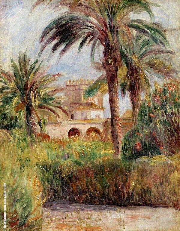 The Test Garden in Algiers 1882 By Pierre Auguste Renoir