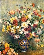 Vase of Chrysanthemums 1880 By Pierre Auguste Renoir