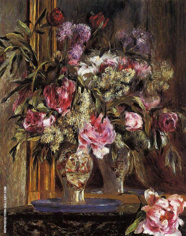 Vase of Flowers 1871 Painting By Pierre Auguste Renoir