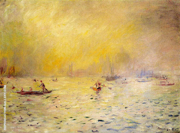 View of Venice Fog 1881 By Pierre Auguste Renoir