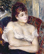 Woman In An Armchair By Pierre Auguste Renoir