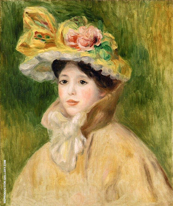 Woman with Capeline Painting By Pierre Auguste Renoir