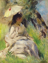 Young Woman with a Parasol 1872 By Pierre Auguste Renoir