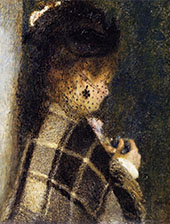 Young Woman with a Veil 1875 By Pierre Auguste Renoir