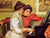 Yvonne and Christine Lerolle at The Piano 1897 By Pierre Auguste Renoir