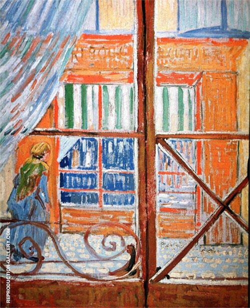 A Pork Butchers Shop Seen from a Window By Vincent van Gogh