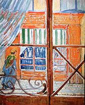 A Pork Butchers Shop Seen from a Window By Vincent van Gogh
