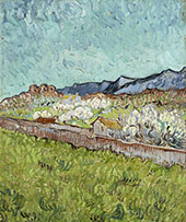 At The Foot of The Mountains By Vincent van Gogh