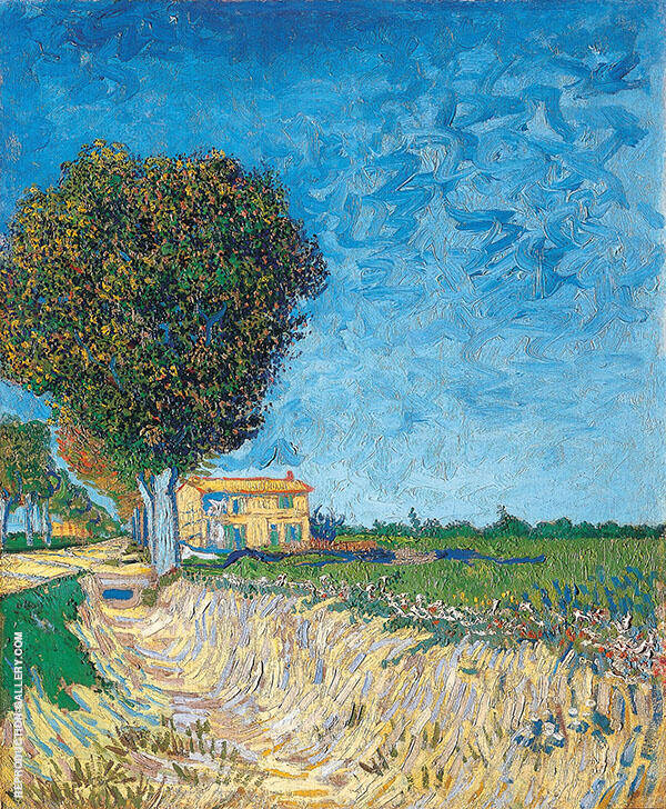 A Lane near Arles 1888 By Vincent van Gogh