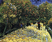 Avenue with Flowering Chestnut Trees Arles 1889 By Vincent van Gogh