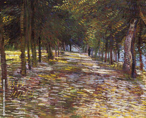 Avenue in Voyer Argenson Park at Asnieres By Vincent van Gogh