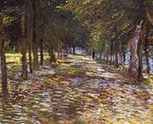 Avenue in Voyer Argenson Park at Asnieres By Vincent van Gogh