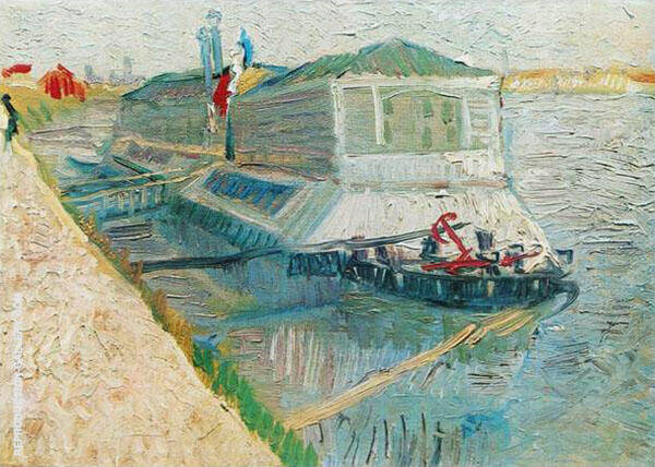 Bathing Float on The Seine at Asnieres Painting By Vincent van Gogh