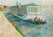Bathing Float on The Seine at Asnieres By Vincent van Gogh