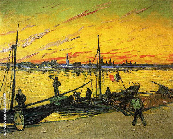 Coal Barges 1888 By Vincent van Gogh