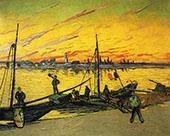 Coal Barges 1888 By Vincent van Gogh