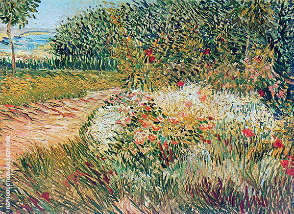 Corner of Voyer d'Argenson Park at Asnieres By Vincent van Gogh