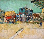 Encampment of Gypsies with Caravans By Vincent van Gogh