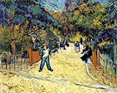 Entrance to The Public Park in Arles 1888 By Vincent van Gogh