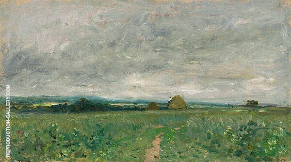 Field of Wheat under a Stormy Sky 1870 By Vincent van Gogh