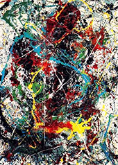 Untitled 31A 1950 By Jackson Pollock (Inspired By)