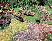 Garden Auvers 1890 By Vincent van Gogh