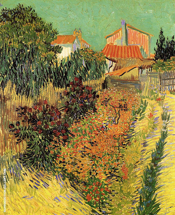 Garden behind a House 1888 Painting By Vincent van Gogh