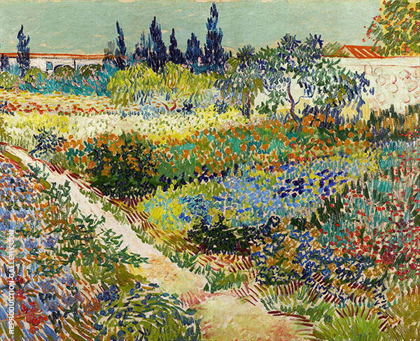 Garden at Arles 1888 By Vincent van Gogh