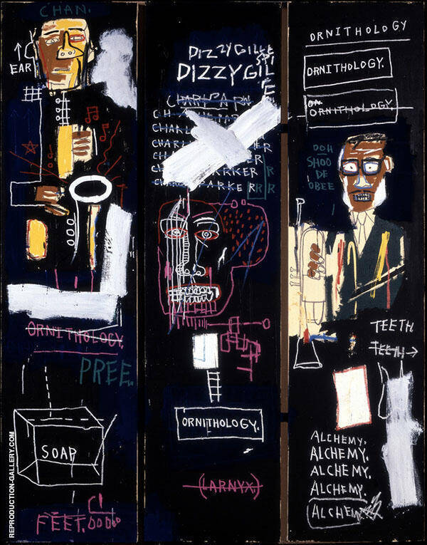 Horn Players By Jean-Michel-Basquiat