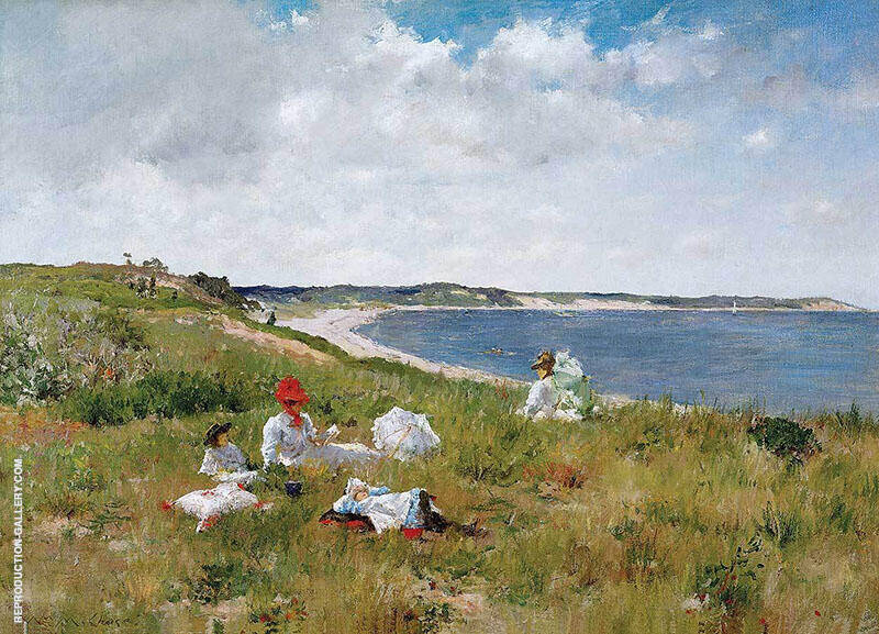 Idle Hours 1894 Painting By William Merritt Chase - Reproduction Gallery