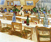 Interior of the Restaurant Carrel in Arles By Vincent van Gogh