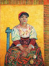 Italian Woman Agostina Segatori By Vincent van Gogh