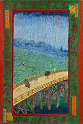 Japonaiserie Bridge in the Rain By Vincent van Gogh