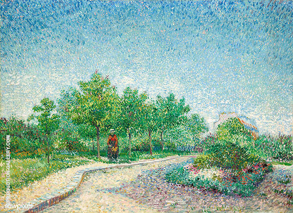 Lane in Voyer Argenson Park at Asnieres By Vincent van Gogh