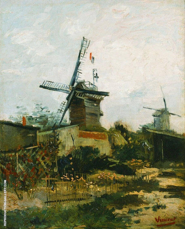Le Moulin de Blute Fin By Vincent van Gogh